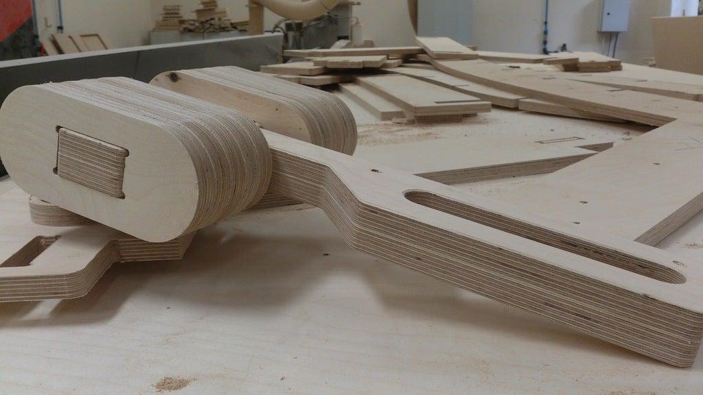 Laser Cut Thor Hammer 18mm Plywood DXF File