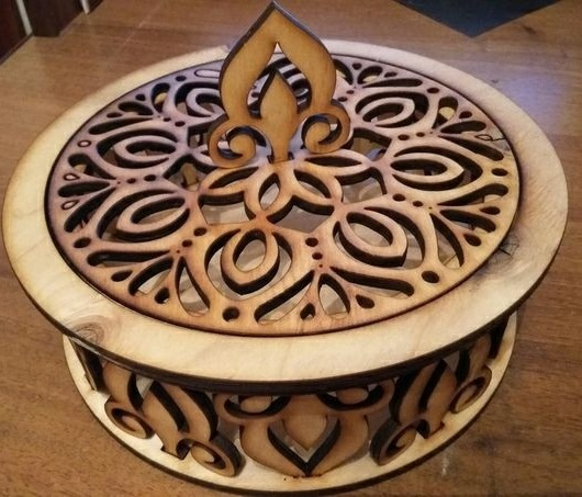 Laser Cut Decorative Candy Bowl Wooden Candy Dish Free Vector