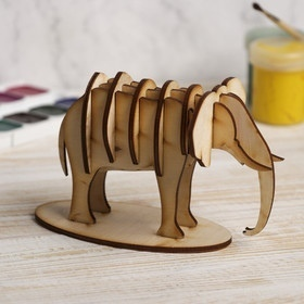 Laser Cut Elephant 3D Model 3mm Free Vector