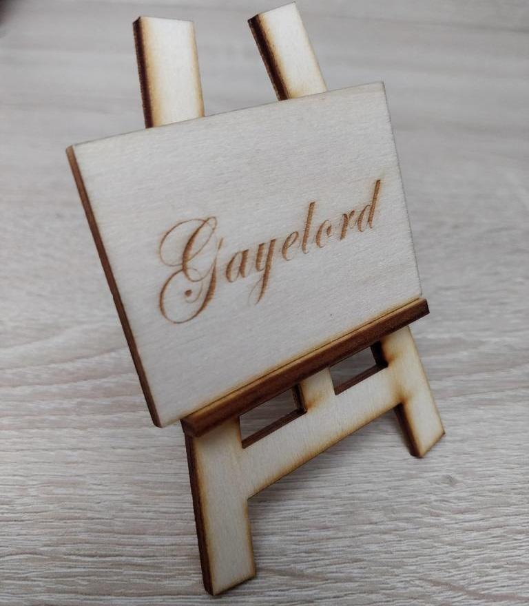 Laser Cut Wooden Easel SVG File