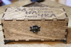 Laser Cut Wooden Box With Hinged Lid Free Vector