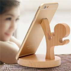 Laser Cut Wooden Ninja Phone Stand Free Vector