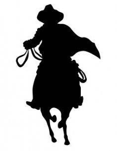 Cowboy Silhouette dxf file front view