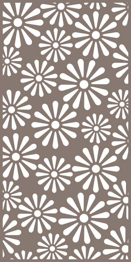 Decorative Privacy Screen Pattern Vector Free Vector