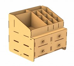 Laser cut Organizer Box Free Vector