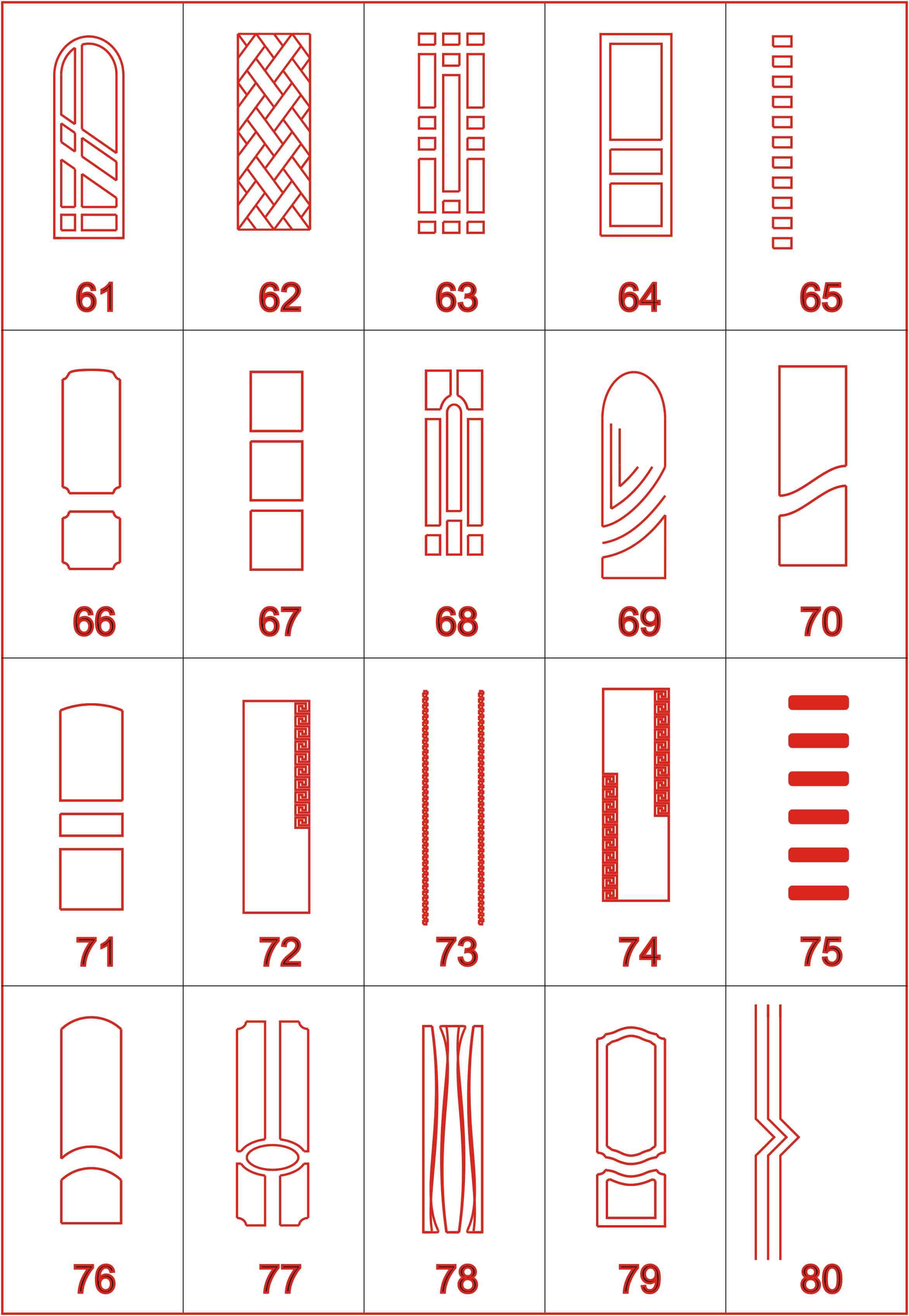 Top 20 Modern Wooden Door Designs for CNC Router Free Vector