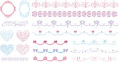 Decoration Set Free Vector