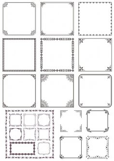 Vector Decorative Frames Free Vector