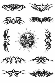 Tribal Tattoo Free Vector Art Free Vector
