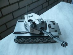 Tank 3D Puzzle DXF File