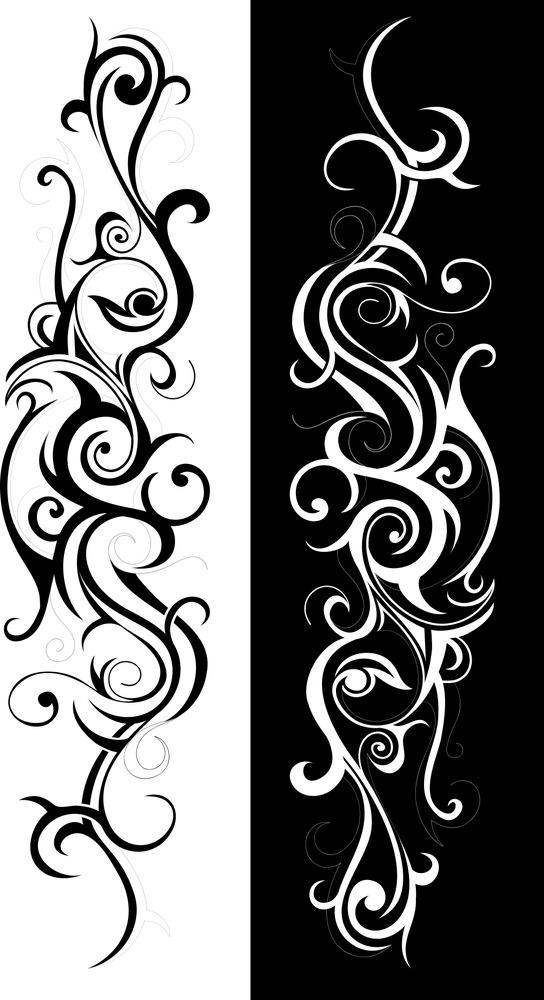 Tribal Art Swirl Vector Free Vector