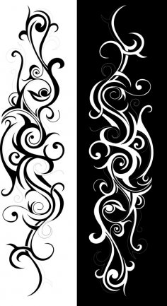 Tribal Art Swirl Vector Free Vector