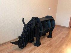 Rhino Bookshelf 8mm Laser Cut Free Vector