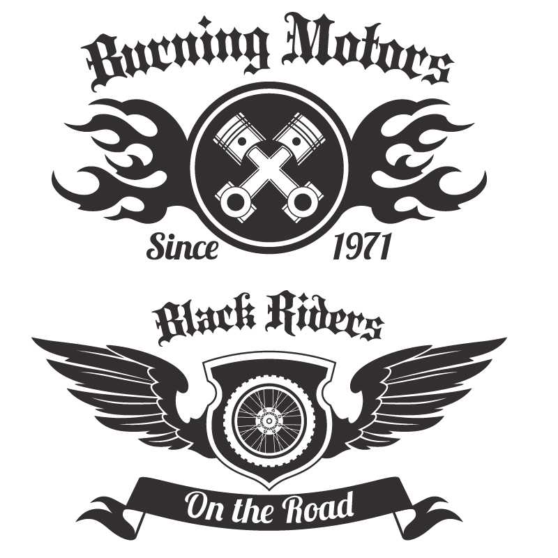 Motorcycle Club Vector Art Free Vector