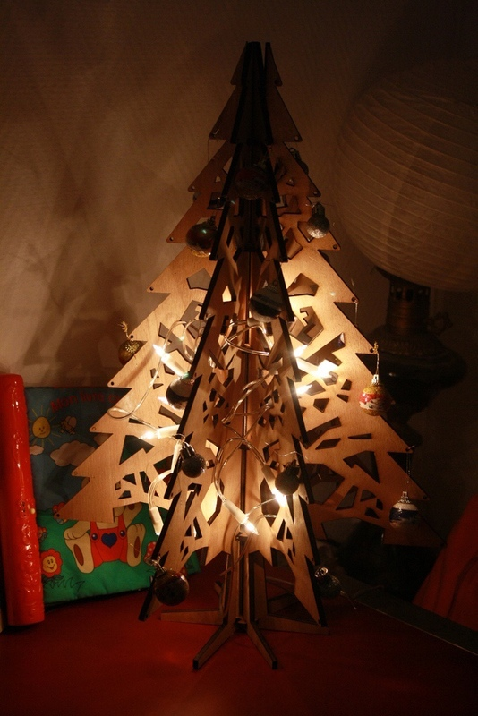 Laser Cut Christmas Tree 3D Free Vector