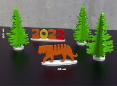 Laser Cut New Year's Toys Wood 4mm Free Vector