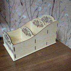 Laser Cut Wooden Spice Storage Rack Free Vector