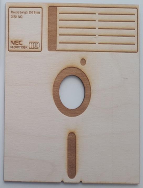 Laser Cut 8 Inch Floppy Disk Drinks Coasters SVG File