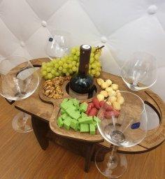 Laser Cut Wine Bottle Glass Holder Wine Table Free Vector
