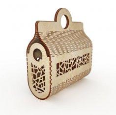 Laser Cut Wooden Handbag Clutch Bag Plywood Fashion Women Bag Free Vector