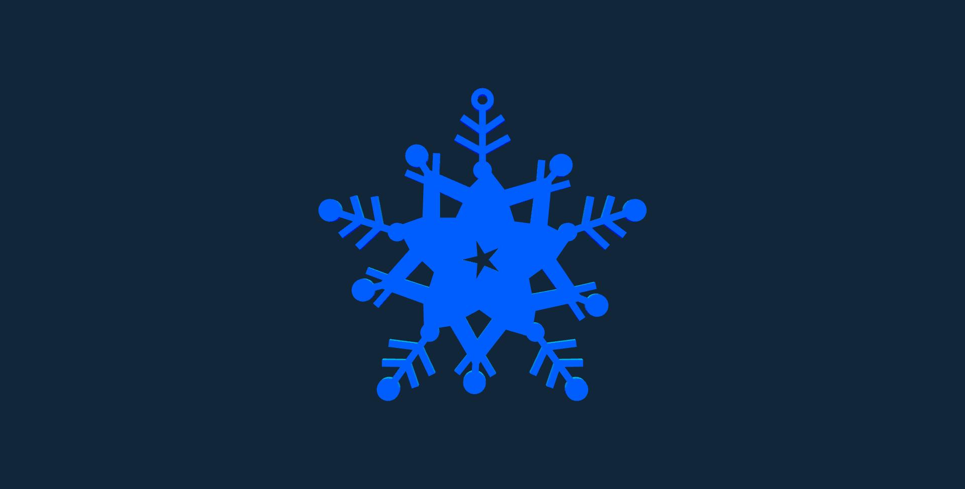 Snowflake design 3 stl file