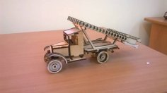 Laser Cut Katyusha Rocket Launcher Wooden Toy Free Vector