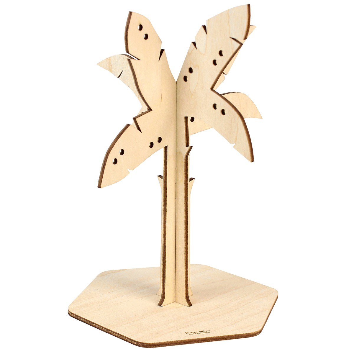 Laser Cut Palm Tree Jewellery Stand Free Vector