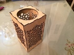 Laser Cut Islamic Candle Lamp Lantern DXF File