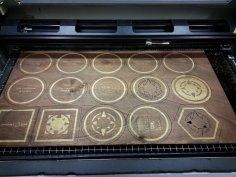 Laser Cut Plywood Coasters SVG File