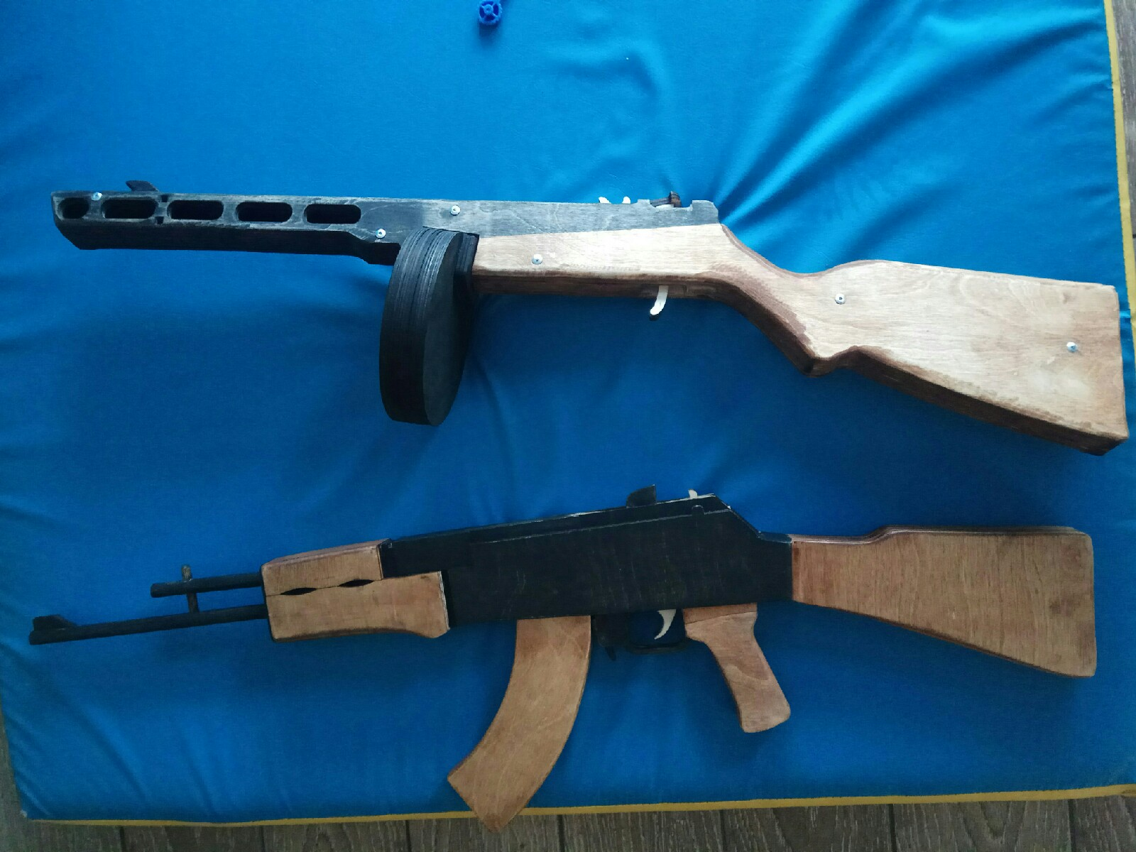 Laser Cut Wooden Toy Gun PPSh-41 Free Vector