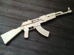 Laser Cut Kalashnikov AK-47 Rifle Free Vector