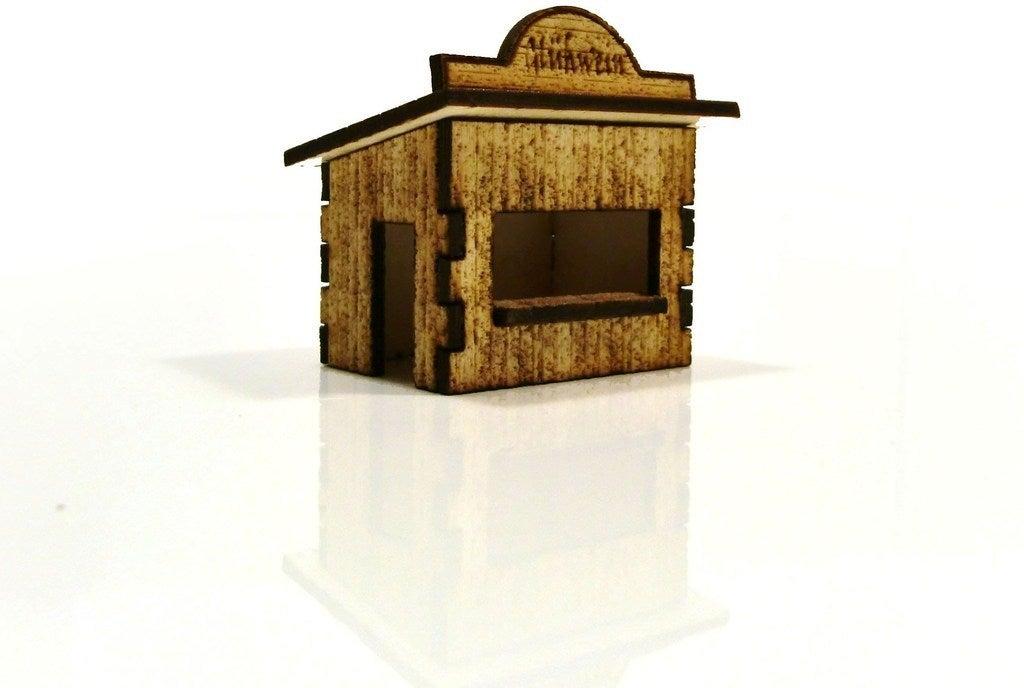 Laser Cut Christmas Market Stalls DXF File