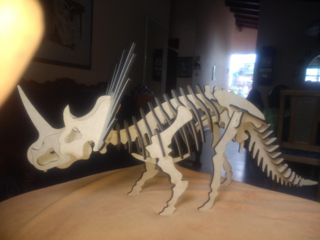 Laser Cut Styracosaurus 3D Puzzle DXF File