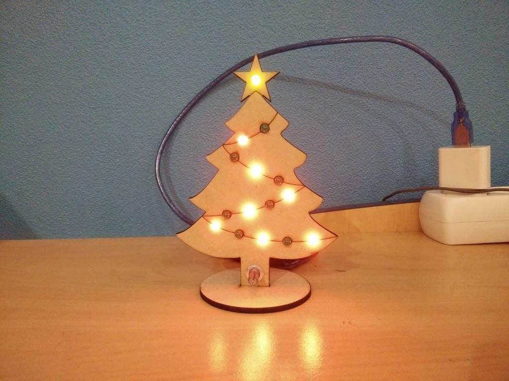 Laser Cut Christmas Tree 3mm MDF Template SVG File