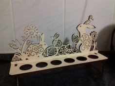 Easter Bunnies Egg Holder Laser Cut Template Free Vector