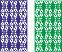 Seamless lace border design partition screen