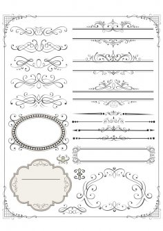 Vector set of page decor elements Free Vector