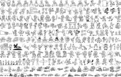People Graphical Lineart Vector Set Free Vector