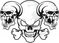 Horror Skull Free Vector