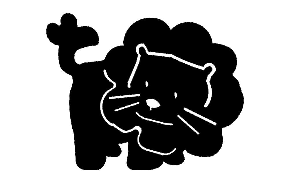 Lion Cartoon dxf File