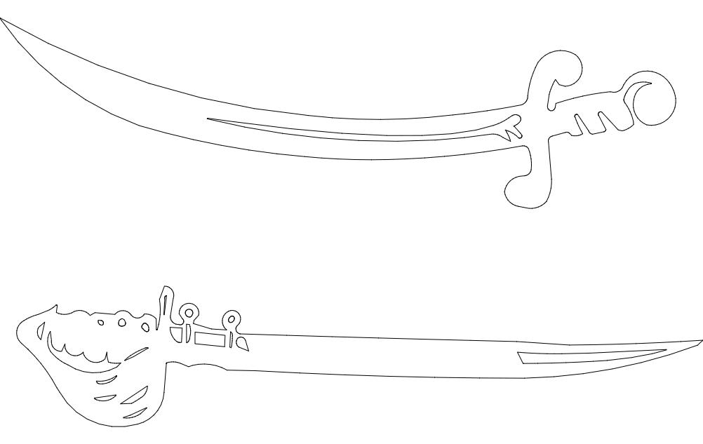 Swords dxf File