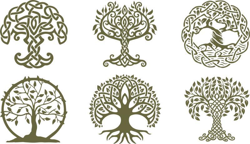 Celtic Trees dxf File