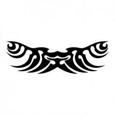 Tribal wings tattoo vector Art jpg Image