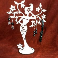 Woman Tree Stand for jewelry CDR File