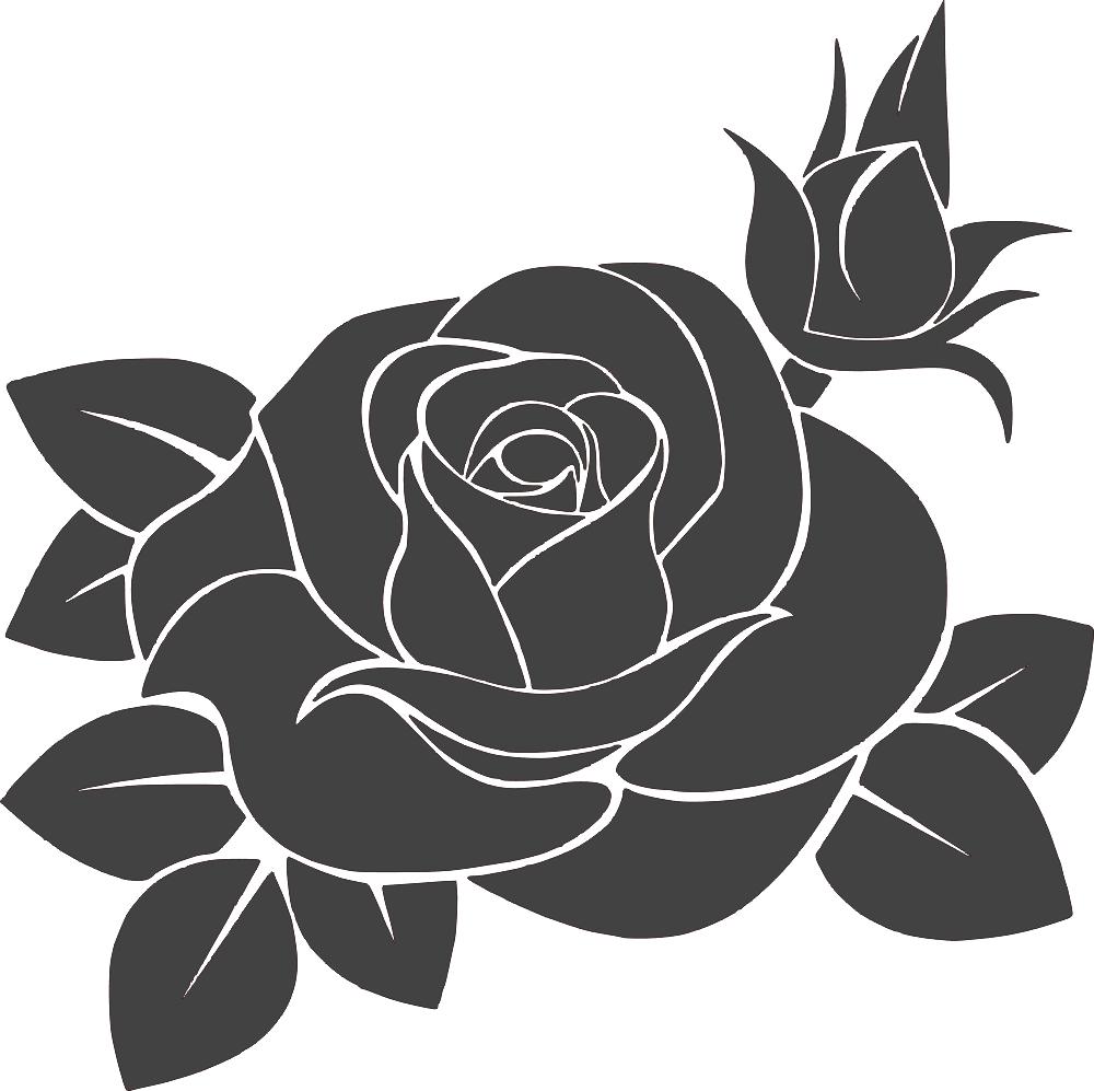 Rose Flower DXF File