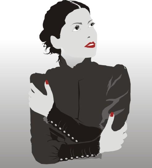 Beautiful Illustration Of Women Vector Art Free Vector