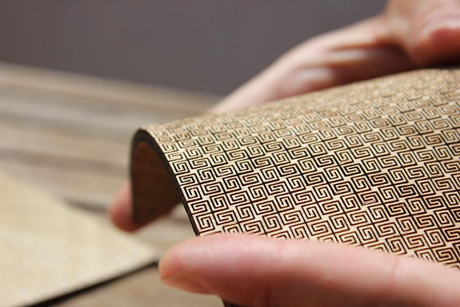 Fabric Pattern Living Hinge Template for Laser Cut DXF File
