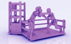 Boxing Pen Holder Stand 3mm Free Vector
