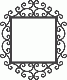 Swirly Mirror Frame DXF File