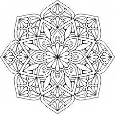Mandala Floral Free Vector